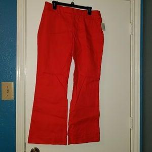 Orange modern boot cut trousers 8 ankle